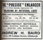A H Baird Advert  -  February 1913