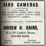 A H Baird Advert  -  March 1913