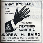 A H Baird Advert  -  May 1913
