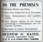 A H Baird Advert  -  November 1913