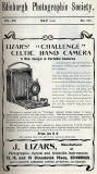 Lizars Advert  -  May 1910