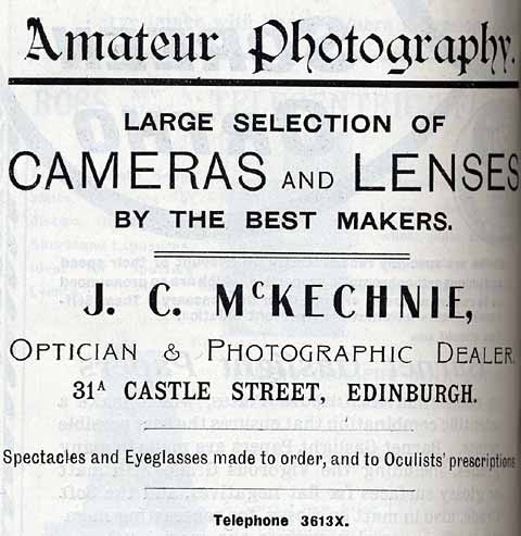McKechnie Advert  -  October 1913