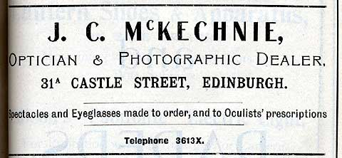 J C McKechnie Advert  -  October 1917