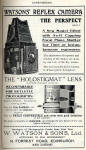 W Watson & Sons Advert  -  December 1910