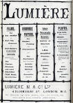 Photographic Dealers  - A H Baird  -  Adverts in his journal, Photographic Chat  - 1903  -  Lumiere - Films, Papers and Plates