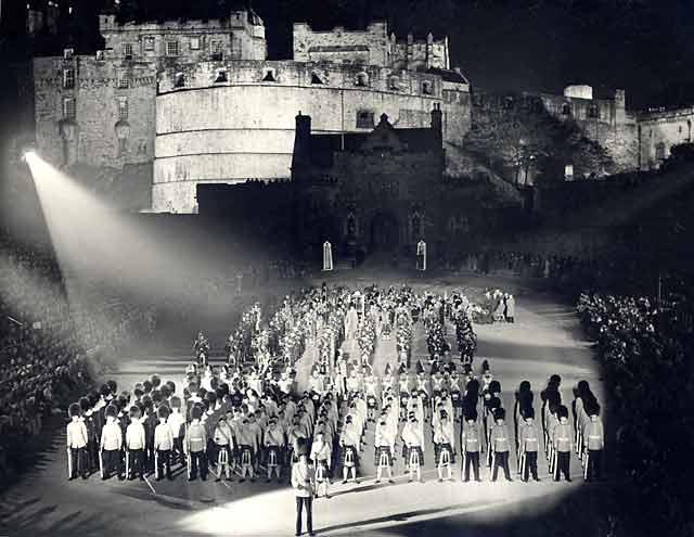 Edinburgh Tattoo, performed on the Esplanade at Edinburgh Castle - 1950