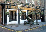 Field Gun outside Greyfriars' Bobby's Bar for the ceremony to Greyfriars' Bobby in Greyfriars' Churchyard