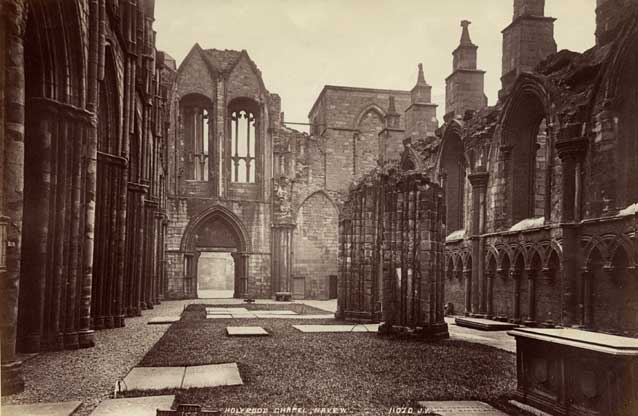 Albumen Print of Holyrood Chapel by James Valentine - 1889