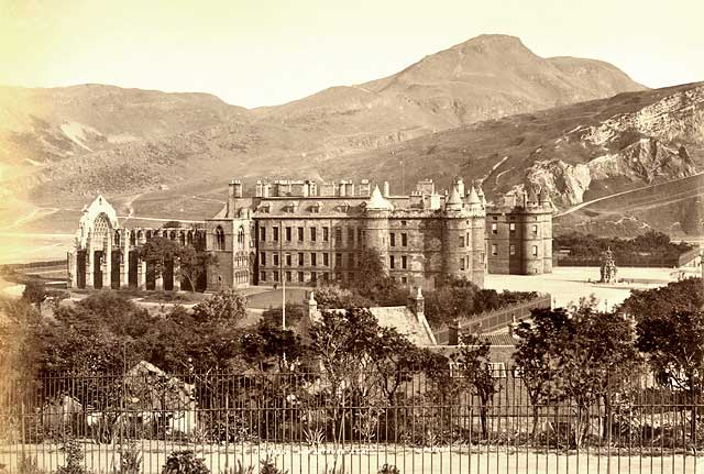 Albumen Print of Holyrood Palace and Abbey from Calton Hill  -  James Valentine  -  1878 or earlier