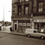 Millers Wireless shop at the corner of Brunswick Street and Elm Row