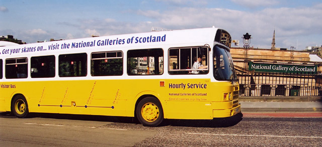 Bus linking the four Edinburgh galleries of The National Galleries of Scotland