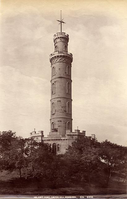 Albumen Print by George Washington Wilson  -  The Nelson Monument on Calton Hill