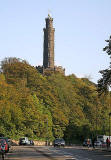 The Nelson Monument on Calton Hill.  The time ball being raised at 12.55pm