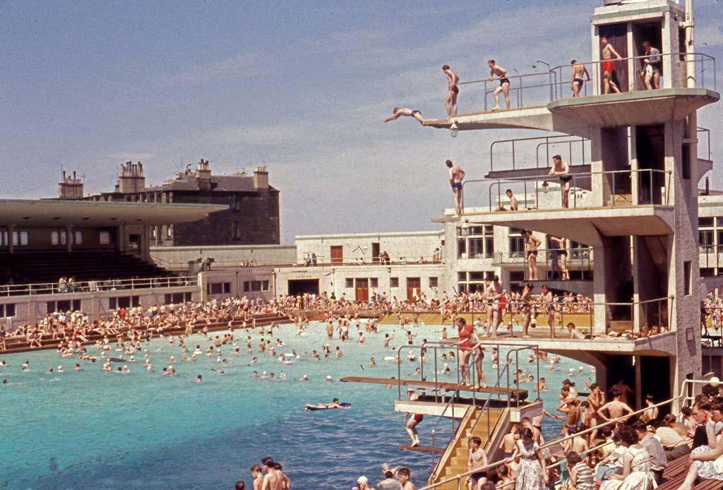 portobello outdoor bathing pool diving 1957 58