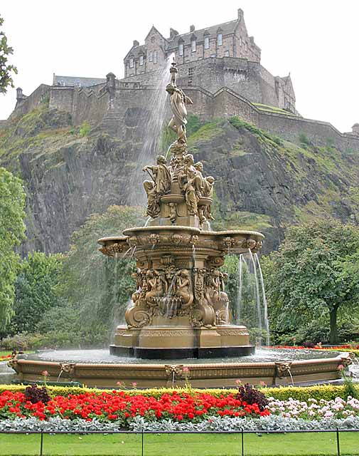Ross Fountain In Princes Street Gardens Photograph 2003