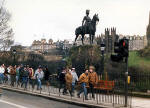 Royal Scots Greys' memorial statue  -  West Princes Street Gardens  -  February 1988