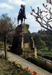 Royal Scots Greys' memorial statue  -  West Princes Street Gardens  -  April 1987
