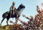 Royal Scots Greys' memorial statue  -  West Princes Street Gardens  -  May 1988