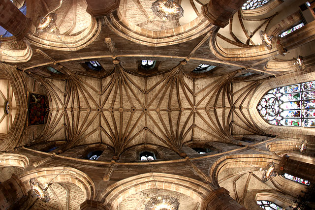 St Giles Caathedral  -  Ceiling in the NE corner of the Cathedral
