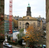 Building work in front of St Patrick's Church, Cowgate, Edinburgh  -  Photograph  -  November 2007