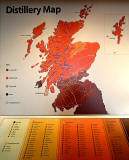 Map of Scottish Distilleries in the bar of the Schotch Whisky Experience, Castlehill, Edinburgh