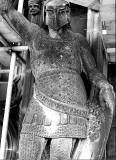 One of the statues on the Scott Monument - photographed during restoration of the monument