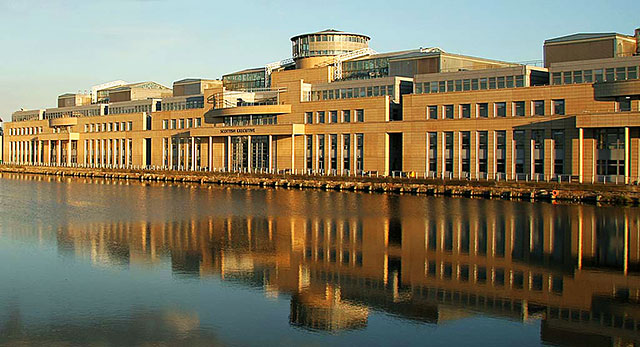 The Scottish Executive Office, Victoria Quay, Leith Docks  -  Photographed 2006