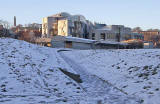 The Scottish Parliament and Calton Hill  -  December 2009