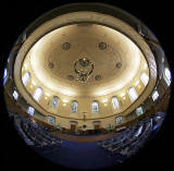 Fisheye view:  Church Interior,  St Andrew's and St George's West Church, George Street, Edinburgh