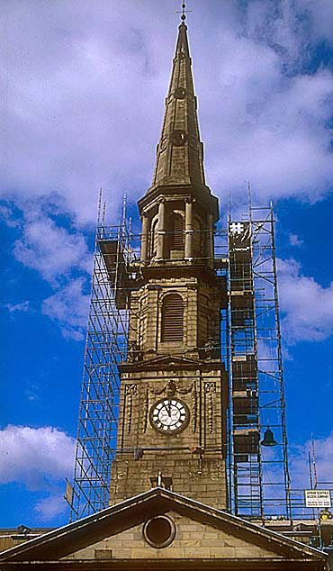 St Andrew's & St George's Church  -  September 2003  -  Removing the Bells - 2