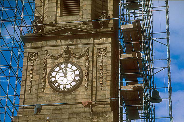 St Andrew's & St George's Church  -  September 2003  -  Removing the Bells - 3