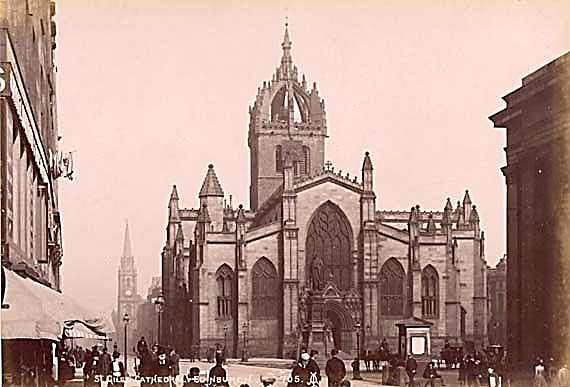St Giles Cathedral in the High Street, Edinburgh  -  Photo by Alex A Inglis