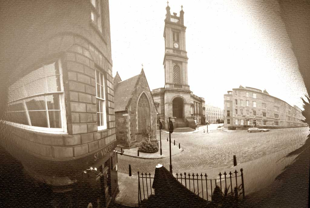 St Stephen's Church and St Vincent Bar  -  Photograph taken with a pinhole camera  -  29 April 2007