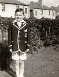 Ed Thomson dressed for Sports Day, 1936, at Wardie School