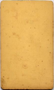 Bashford  -  back of carte de visite of a lady  -  card blank on the back