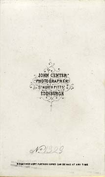 Carte de Visite by John Center  -  4 (back)