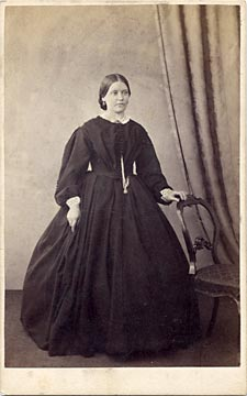 The front of a carte de visite of a lady by John T Croal