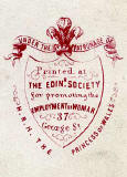 Carte de Visite printed by the Edinburgh Society for the Employment of Woman  -   Lady and Child  -  back zoom-in