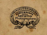 Howie & Bonne  -  Detail from the back of a Carte de Visite of a lady