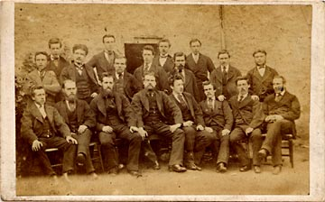Carte de visite of a group  -  by J Howie of Whitfield Place