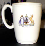 Coronation Mug, 1953  -  The back of the mug