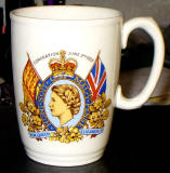 Coronation Mug, 1953  -  The front of the mug