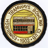 Edinburgh Tramways Bowling Club - 1902.  Embroidered badge