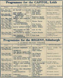 British Gaumont Cinemas - Programmes for Leith Capitol and for Regent cinemas, 1935