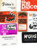 Membership Cards and Flyers from Edinburgh clubs and discos in the 1960s and 1970s