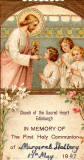 First Holy Communion, Holy Picture  -  Churech of the Sacred Heart, 1947