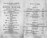 Laubach family  -  Musical Matinee Programme
