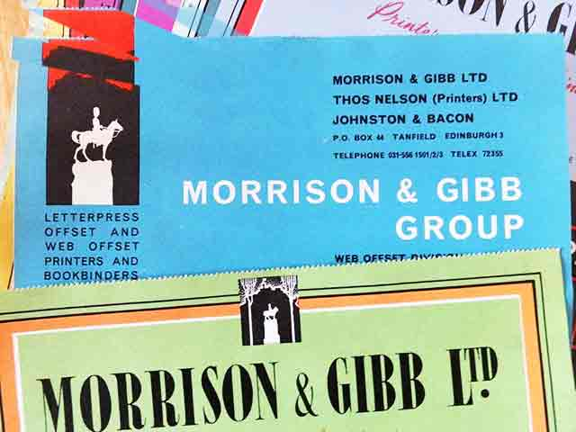 Morrison & Gibbs letterhead, incorporating logo of Royal Scots Greys statue in West Princes Street Gardens