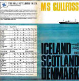 MS Gullfoss  -  Sailing Schedule, 1967
