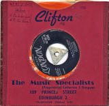 Record Sleeve and Record  -  Clifton Music Specialists, 109 Princes Street